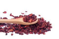 Torkad spansk peppar eller röd krydda för paprica Royaltyfri Foto