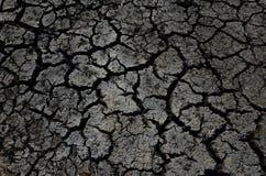 Torkad sprucken jordökenbakgrund Arkivbild