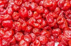Torkad tranbärbakgrund eller röd mattextur royaltyfria bilder