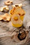 Torkade äpplecirklar Arkivfoto