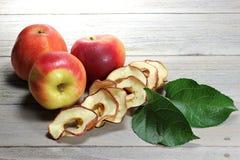 Torkade äpplecirklar 06 Arkivfoto