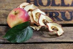 Torkade äpplecirklar 07 Arkivfoto