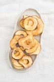 torkade äpplen Royaltyfri Fotografi