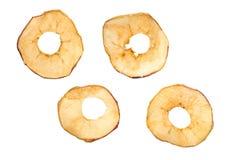 torkade äpplen Arkivbild