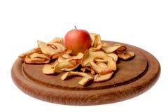 torkade äpplen royaltyfri foto