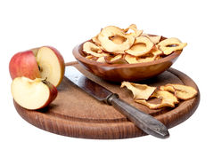 torkade äpplen arkivfoton