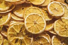 torkade apelsiner arkivfoton