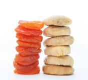 Torkade aprikosar och figfrukter Royaltyfria Bilder
