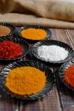 torkade aromatisk kokkonst för tillsatser olika kryddor för det naturliga valet för elementmatingredienser Royaltyfri Bild
