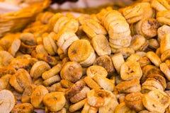 Torkade bananskivor för bakgrundsbruk Arkivbild