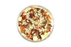 Torkade blandade grönsaker i en glass maträtt Royaltyfria Foton