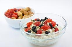 torkade bunkar - frukt isolerad rice två Arkivbild