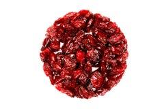 torkade cranberries Arkivfoto