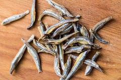 Torkade en liten fisk till öl Royaltyfri Fotografi
