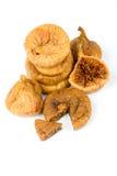 torkade figs isolerade white Fotografering för Bildbyråer