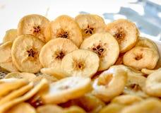 Torkade frukter, äpplen Arkivbilder