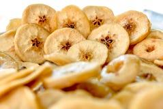Torkade frukter, äpplen Royaltyfria Foton
