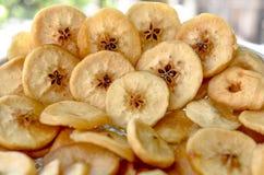 Torkade frukter, äpplen Fotografering för Bildbyråer