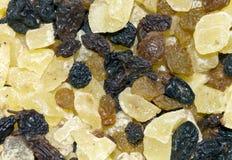 Torkade frukter av russin, katrinplommoner, ananas, banan Fotografering för Bildbyråer