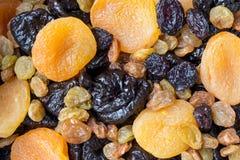Torkade frukter - närbild, blandning Fotografering för Bildbyråer
