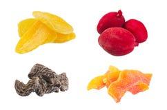 Torkade frukter på bakgrund Arkivfoto