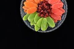 Torkade frukter - symboler av Jweish semestrar Tu Bishvat Arkivfoto