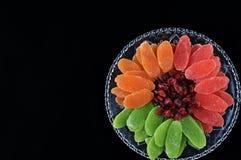 Torkade frukter - symboler av Jweish semestrar Tu Bishvat Arkivbild