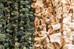 Torkade grönsaker i Gaziantep, Turkiet Arkivbild
