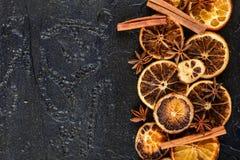 torkade orange skivor Royaltyfria Bilder
