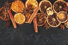 torkade orange skivor Royaltyfri Fotografi