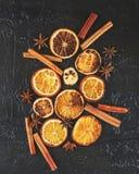 torkade orange skivor Fotografering för Bildbyråer