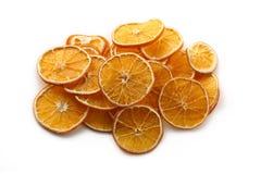 torkade orange skivor Arkivbilder