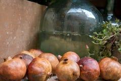 torkade pomegranates Arkivfoto