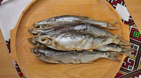 Torkade sabrefish På tabellen fotografering för bildbyråer