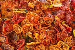 Torkade tomater Fotografering för Bildbyråer