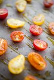 Torkade tomater för danande halva Arkivfoton