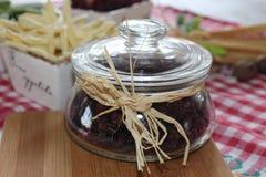 Torkade tranbär, kex, italiensk mat, italienska mellanmål, italienska kex Fotografering för Bildbyråer