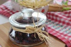 Torkade tranbär, kex, italiensk mat, italienska mellanmål, italienska kex Arkivbild