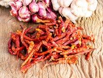 Torkade varma röda chilir Arkivfoton