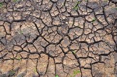 Torkaland karg jord sprucken bakgrund torkar jord sprucken mudmodell Royaltyfri Bild