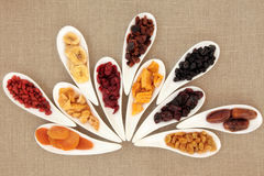 Torkat blandat - frukt Arkivfoto