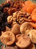 torkat - fruktvalnötter Arkivbild