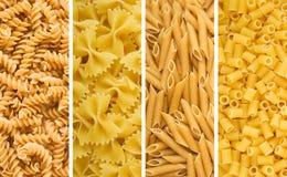 torkat fyra pastas Fotografering för Bildbyråer