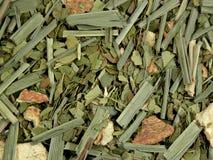 torkat - grön tea för frukt Fotografering för Bildbyråer