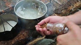 Torkat kött för turister lager videofilmer