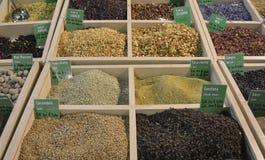Torkat kryddor och frö Royaltyfri Bild