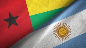 Torkduk f?r Guinea-Bissau och Argentina tv? flaggatextil, tygtextur vektor illustrationer