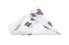 Torkduk med blommor Arkivbild