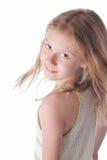 torkdukeflicka little som är vit fotografering för bildbyråer
