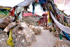 Torkduken av scripturesna i Tibet den Rotatable designen royaltyfria foton